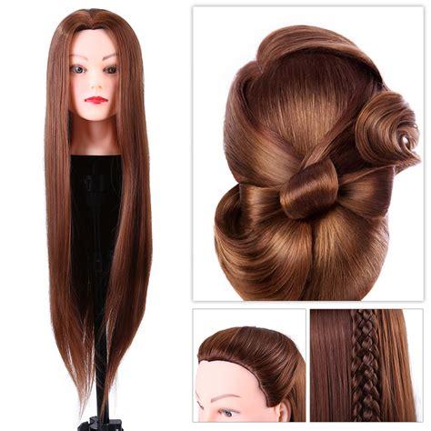 salon hairdressing practice training head long hair