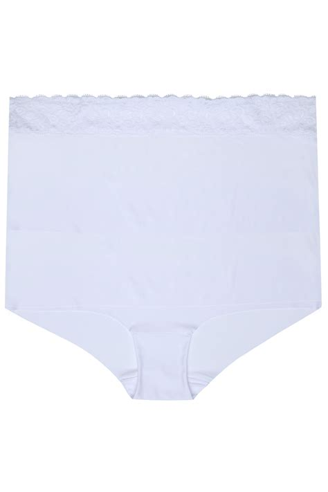 the best javascript template white no vpl brief with lace waist trim plus sizes 16 to 32