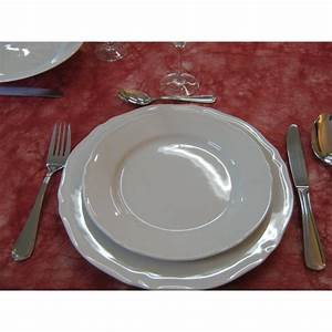 Assiette Creuse Blanche : assiette creuse clara festonn e en porcelaine blanche ~ Teatrodelosmanantiales.com Idées de Décoration