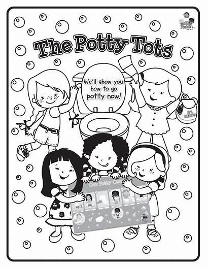 Coloring Potty Tots