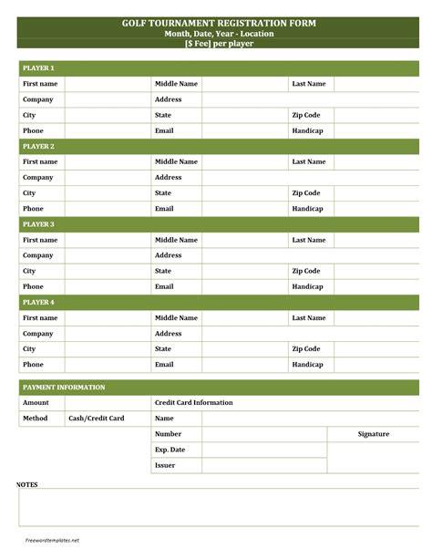 conference registration email template golf tournament registration form