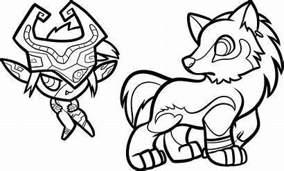 Coloring Pages Link Wolf Midna Colouring Characters
