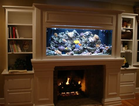 An Aquarium Next To The Fireplace In The Living Room, Is Colors For Open Concept Kitchen And Living Room Country Furniture Ideas Sectionals Turquoise Walls How To Decorate A Without Fireplace Boho Chic Oak Purple Yellow