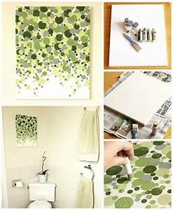 Diy wall art bathroom : Fun diy bathroom decor ideas you need right now