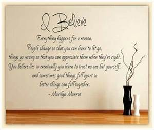 Marilyn monroe wall quotes and decor