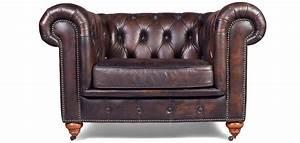 Canapé Cuir Fauteuil : fauteuil chesterfield cuir vieilli pas cher ~ Premium-room.com Idées de Décoration