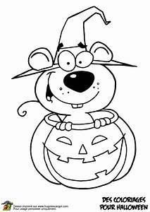 Citrouille D Halloween Dessin : a colorier un petit rat se cachant dans la citrouille d halloween coloriages et activit s ~ Nature-et-papiers.com Idées de Décoration