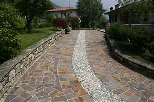 Pavimenti in pietra per esterni: viali spiazzi giardini