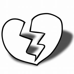 Broken Heart Clipart Black And White | Clipart Panda ...