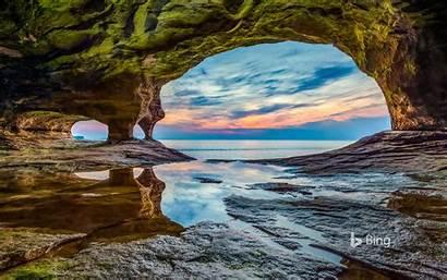 Rocks Lake Superior Lakeshore National Pictured Bing