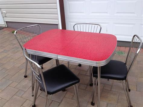 vintage arborite chrome table and chairs city