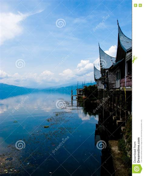 rumah gadang stock photo image  clouds travel lakes