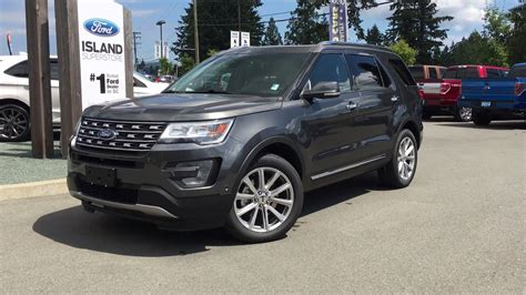2017 Ford Explorer Limited Awd +trailer Tow +dual Panel