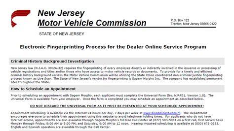 Motor Vehicle Registration Nj