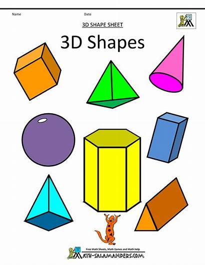 Shapes 3d Printable Geometric Assorted Clipart Math