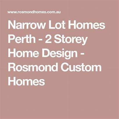 Homes Storey Perth Narrow Lot Rosmond