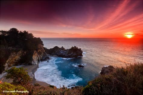 Winter Sunset Julia Pfeiffer Burns Big Sur Landscape