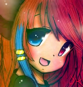 Rainbow Anime Cat Girl