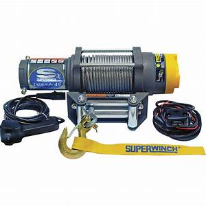 Superwinch 12 Volt Dc Powered Electric Utv Winch  U2014 4 500