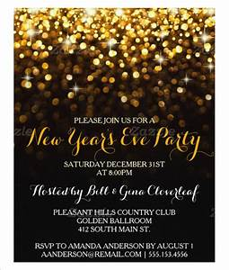 New years party invitations gangcraftnet for New year invite templates free