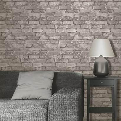Brick Rustic Decor Grey Effect Silver Stone