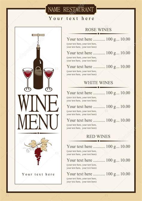 finest wine menu examples  psd ai eps
