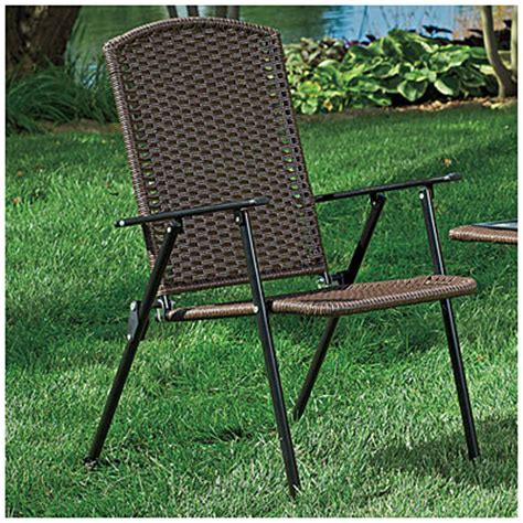view wilson fisher 174 resin wicker folding chair deals at