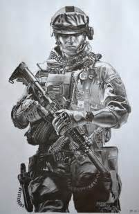 Drawing Battlefield 3 Soldiers