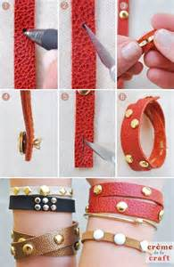 DIY Leather Bracelet Crafts