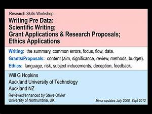 Scientific research proposal writing ppt Introduction and