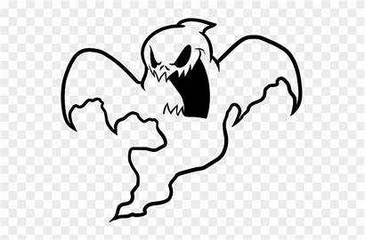 Ghost Coloring Scary Clipart Transparent Pacman Pokemon