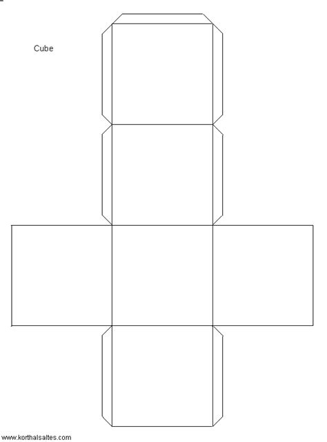 cube template paper cube