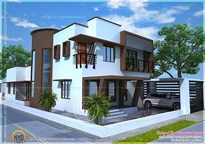 Beautiful, Contemporary, Home, Plan, -, Kerala, Home, Design, And, Floor, Plans