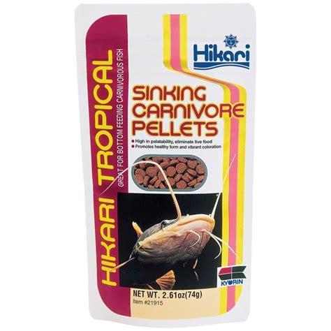hikari sinking carnivore pellets 2 2 lb aquariums fish food catfish loaches pet supplies