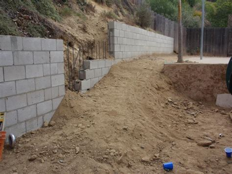 cinder block retaining wall san diego paverscape landscape construction retaining walls