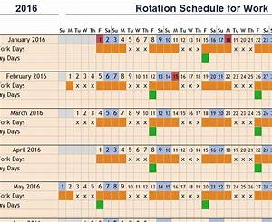 Excel Amortization Rotation Schedule For Work My Excel Templates