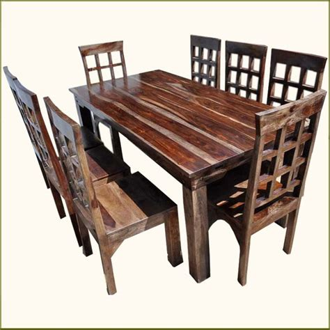 pc solid rosewood dining table  chairs set