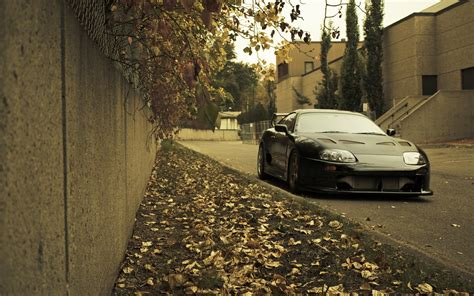 jdm japanese domestic market toyota supra cars leaves