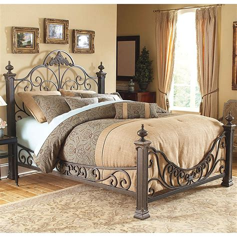 Bed Frames And Headboards by Baroque Metal Bed Frame In Beds And Headboards