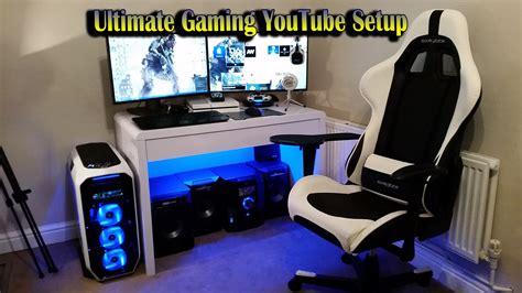 gaming computer desk for multiple monitors ultimate gaming youtube setup 2015 dual monitors gtx 970