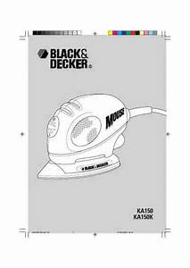 Black Decker Ka 150 K Mouse Tools Download Manual For Free