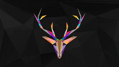 Desktop Colorful Dark Wallpapers Reindeer Polygonal Backgrounds
