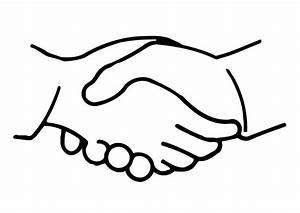 Hand Shaking Drawing - ClipArt Best