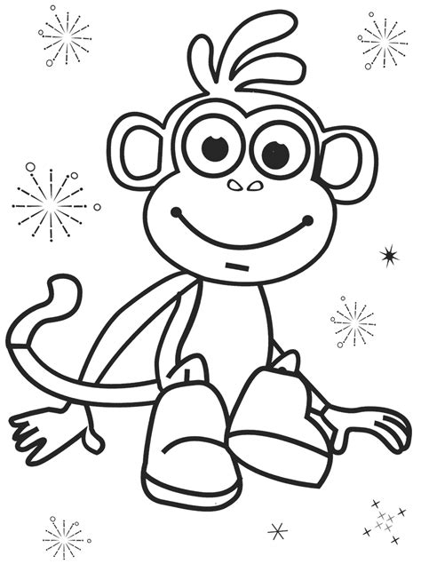 dora  boots coloring pages    print