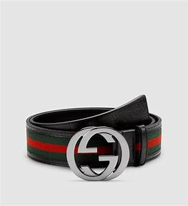 Gucci Signature Web Belt With Interlocking G Buckle in Red ...