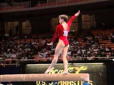 kerri strug balance beam   gymnastics