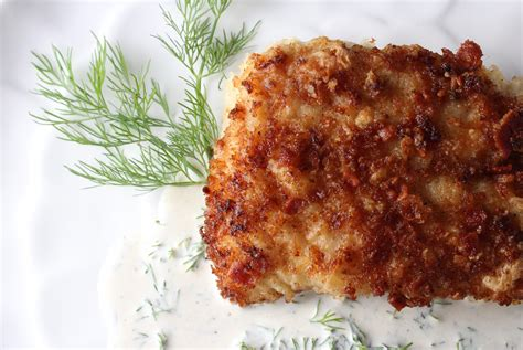 grouper panko bacon fried pan crusted recipe fish