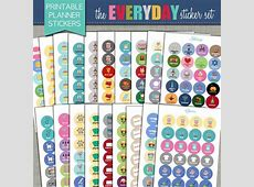 NEW Printable Planner Stickers Everyday Set 34