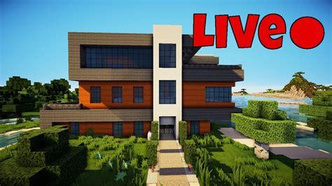 Minecraft Livestream  Redstone Haus Bauen #15 Youtube