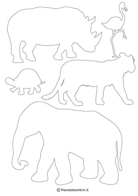 disegni da colorare e ritagliare per bambini gratis sagome di 90 animali da stare colorare e ritagliare